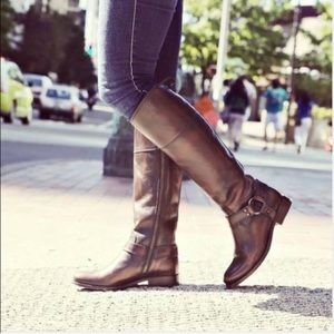 Frye Melissa Harness Zipper Boots